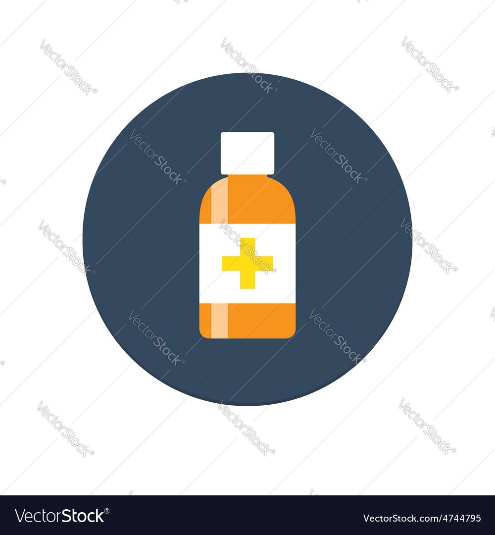 Flat medical syrup bottle icon vector | Price: 1 Credit (USD $1)