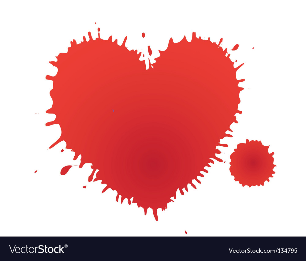 Heart stain vector | Price: 1 Credit (USD $1)