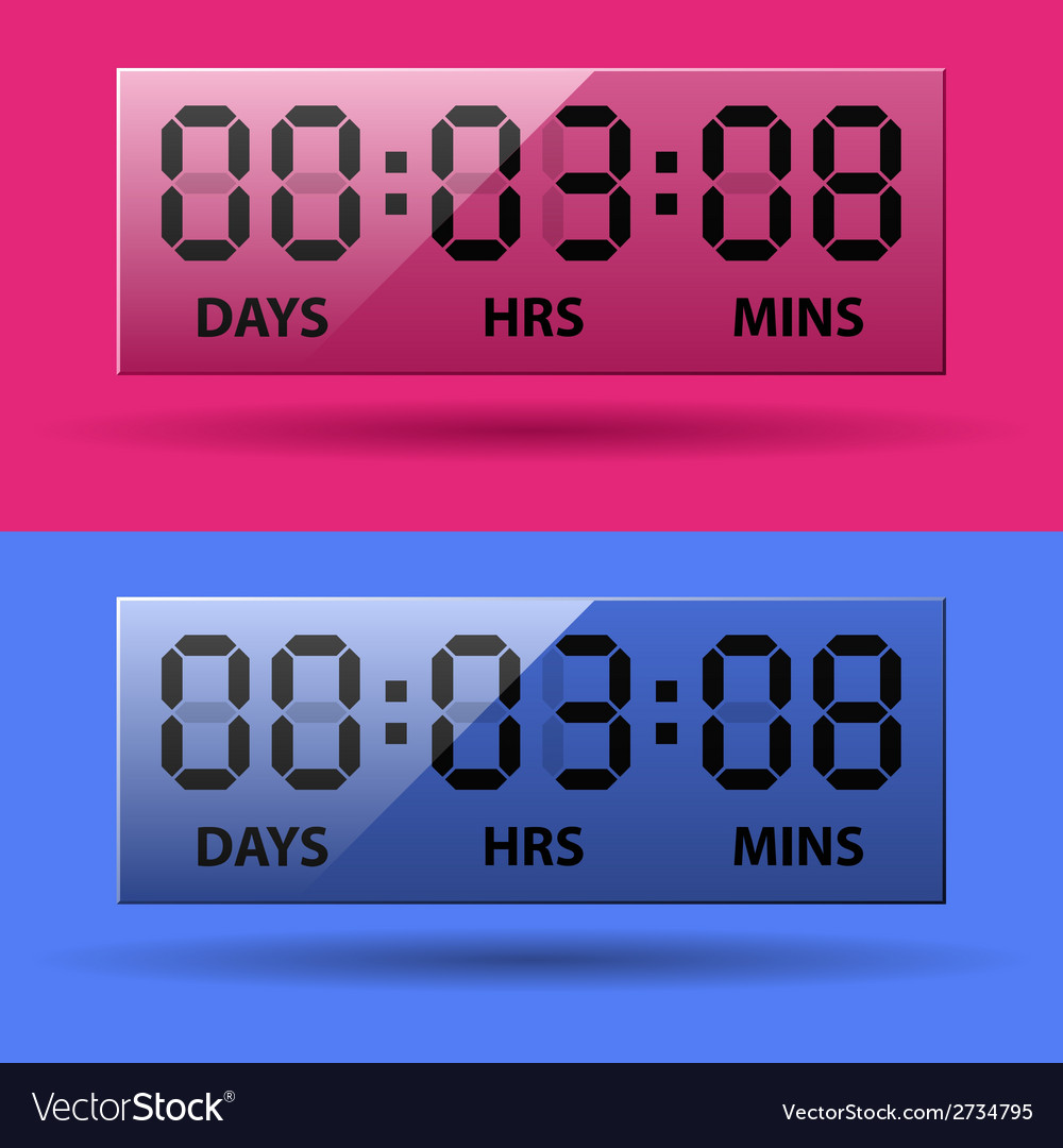 Lcd counter - countdown timer vector | Price: 1 Credit (USD $1)