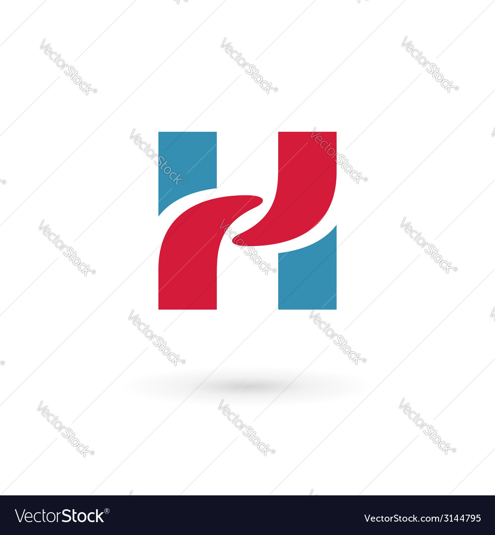 Letter h logo icon design template elements vector | Price: 1 Credit (USD $1)