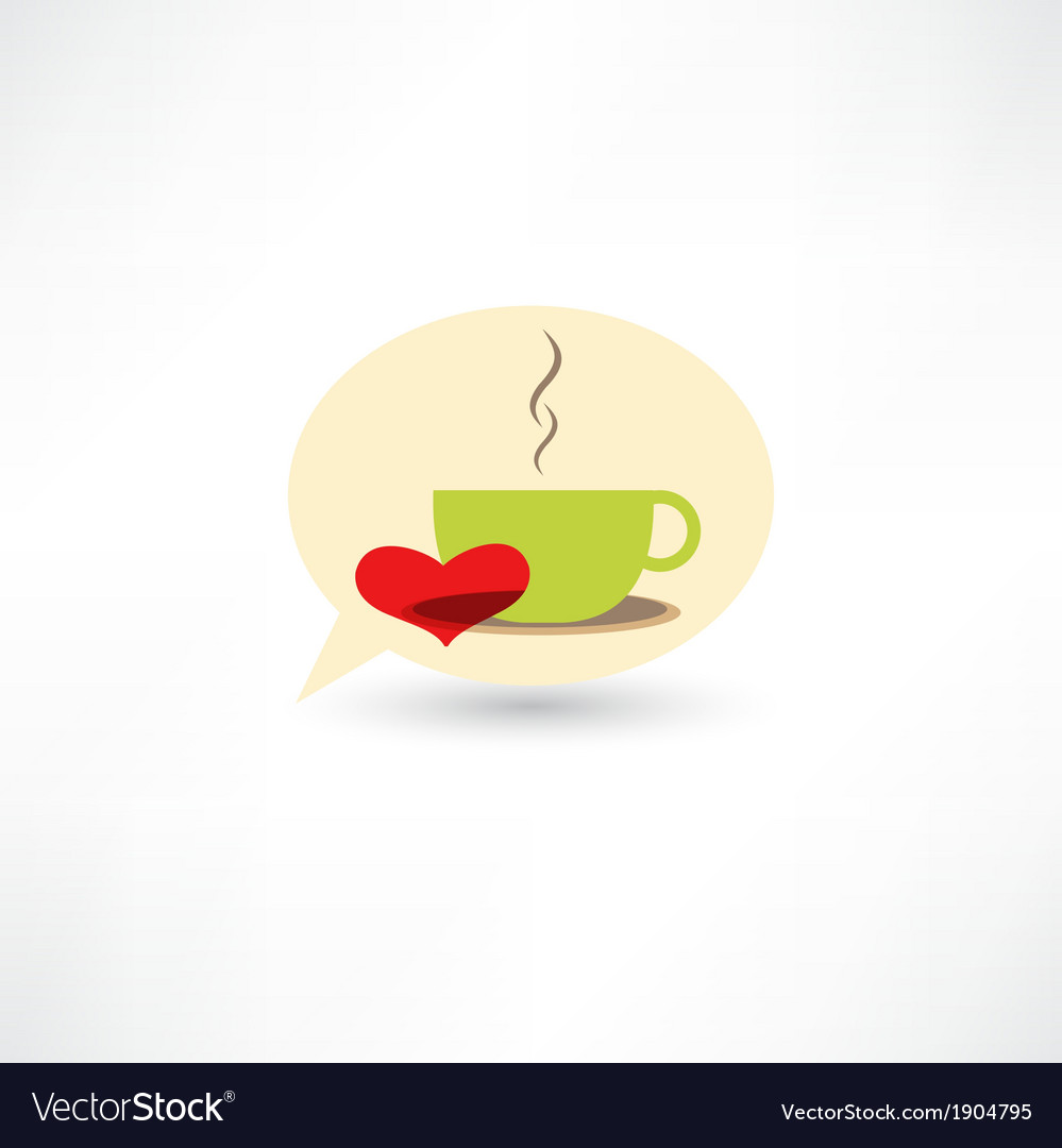 Love hot coffee vector | Price: 1 Credit (USD $1)