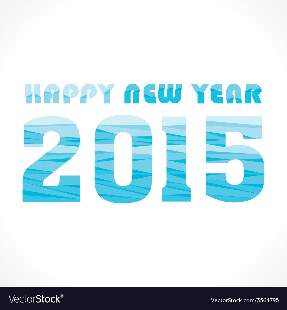 New year 2015 greeting wave pattern design vector | Price: 1 Credit (USD $1)