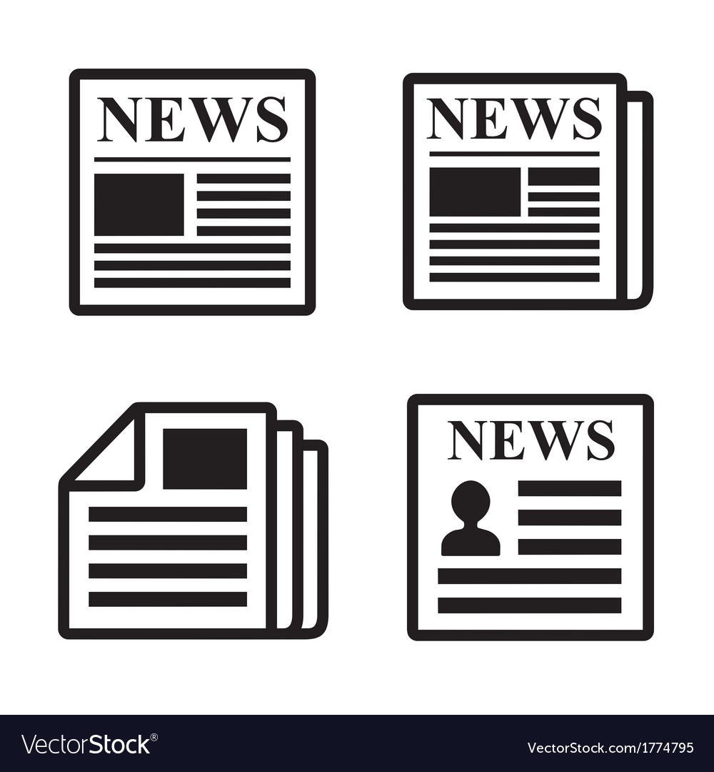 Newspaper icons set vector | Price: 1 Credit (USD $1)