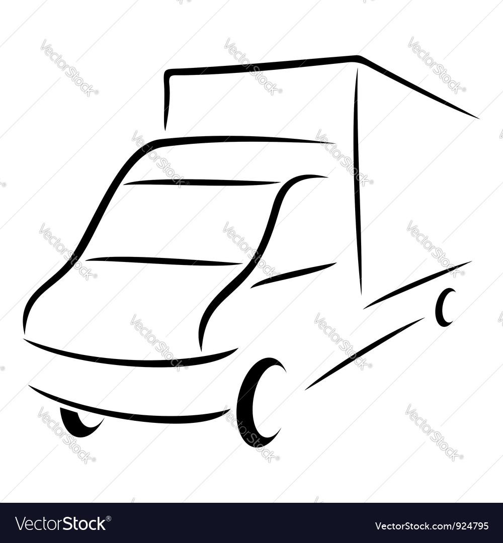 Road transport symbol vector | Price: 1 Credit (USD $1)