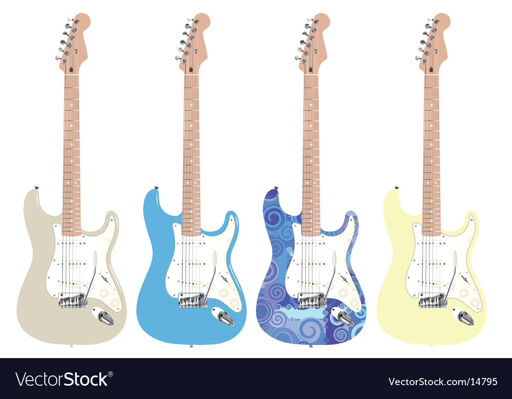Rock star guitar vector | Price: 1 Credit (USD $1)