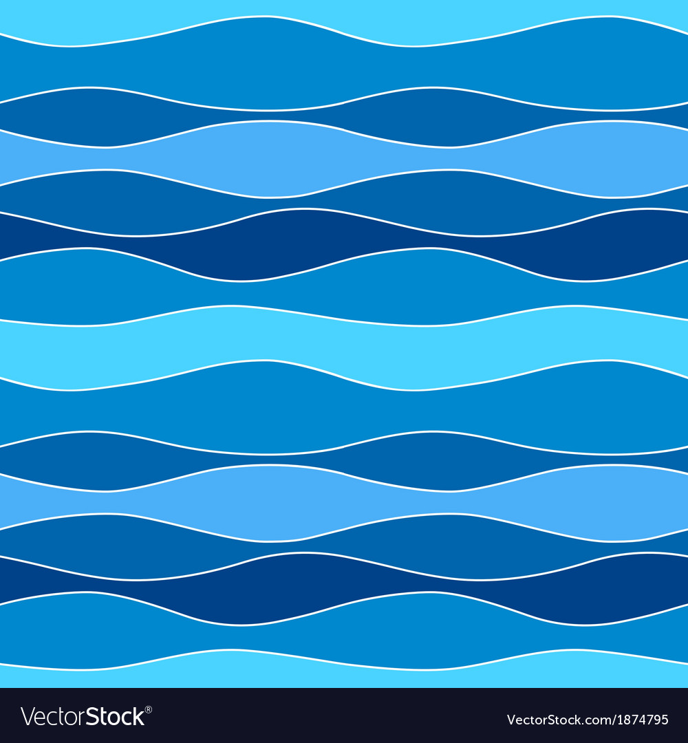 Sea waves abstract seamless pattern background vector | Price: 1 Credit (USD $1)