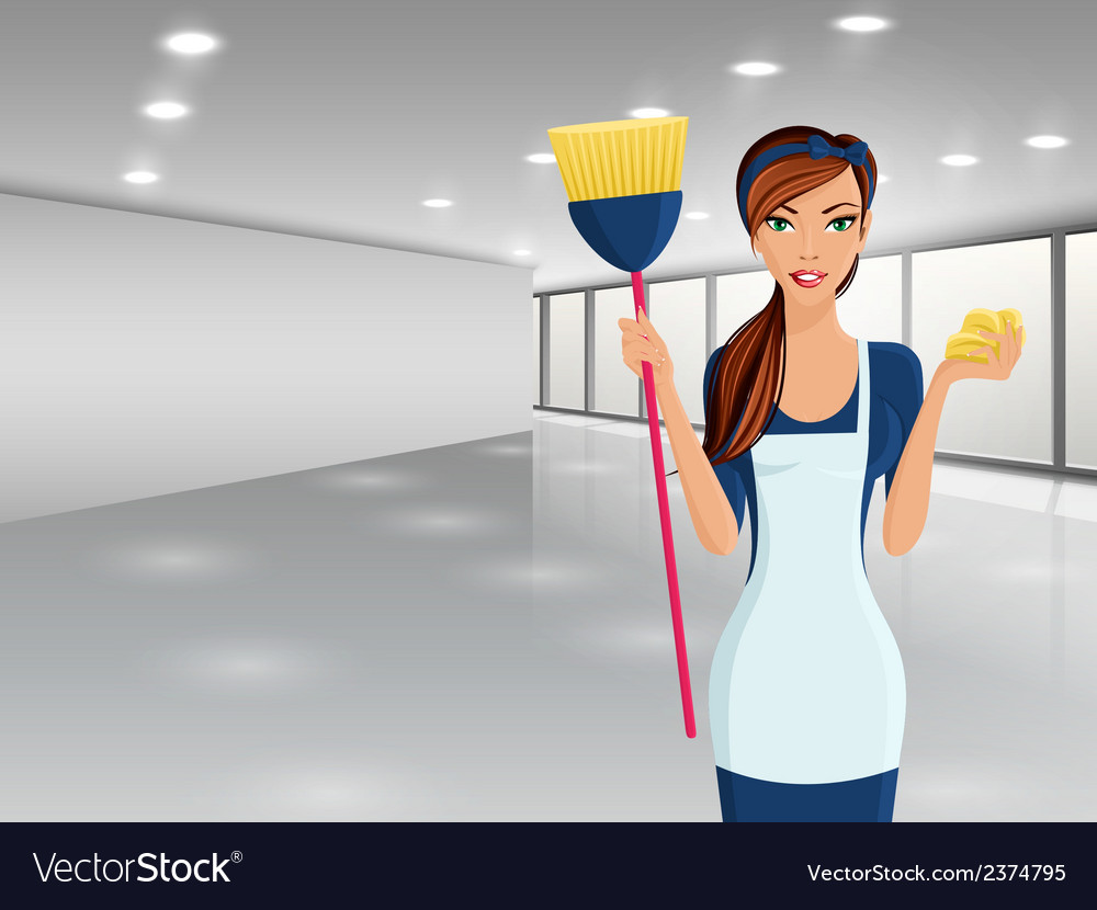 Woman cleaners portrait vector | Price: 1 Credit (USD $1)