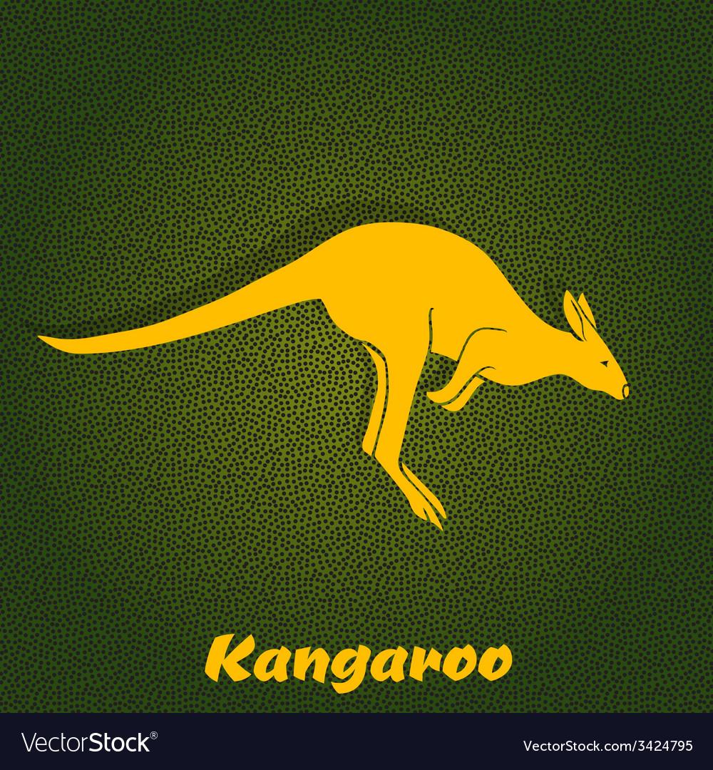 Yellow kangaroo silhouette vector | Price: 1 Credit (USD $1)