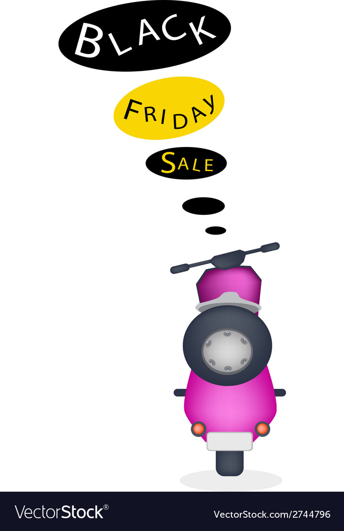 A motorbike with black friday sale banner vector | Price: 1 Credit (USD $1)