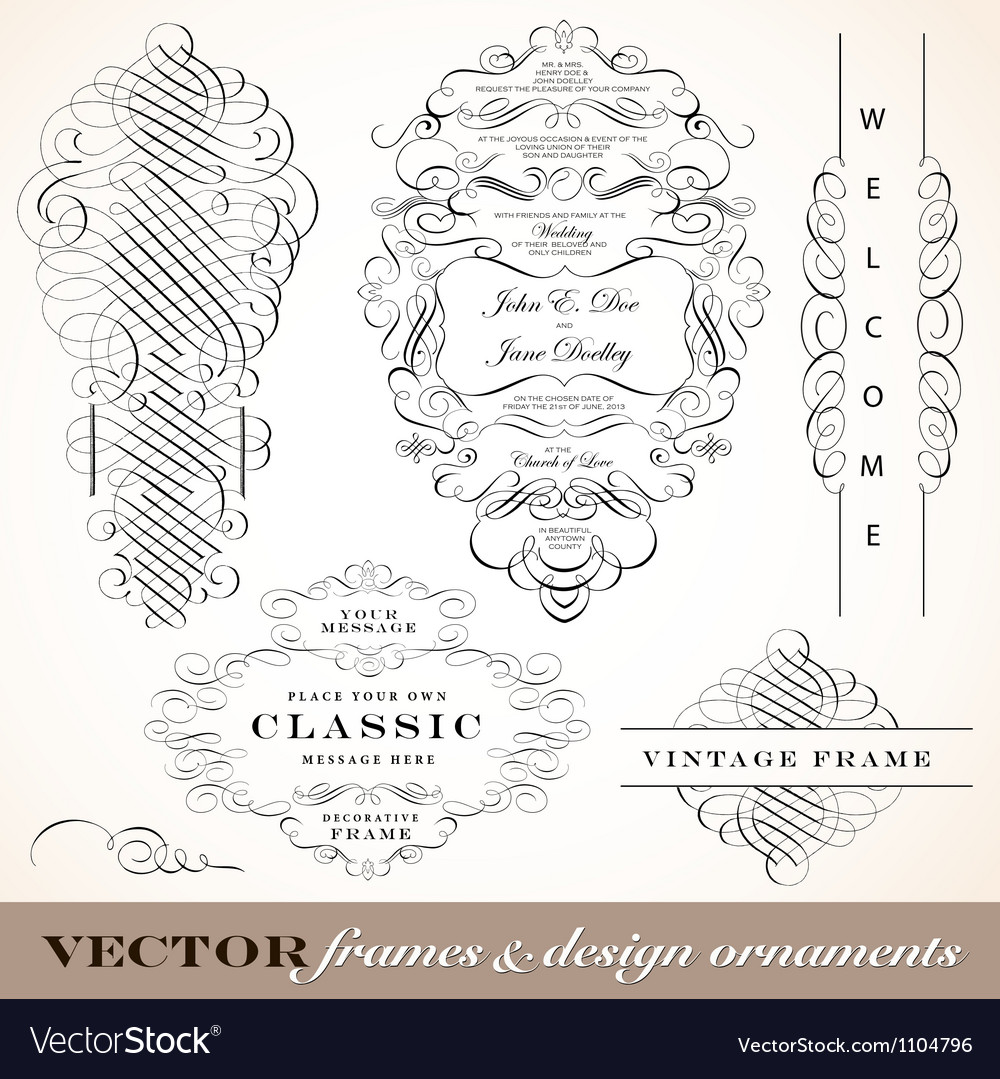 Classic victorian fancy elements vector | Price: 1 Credit (USD $1)