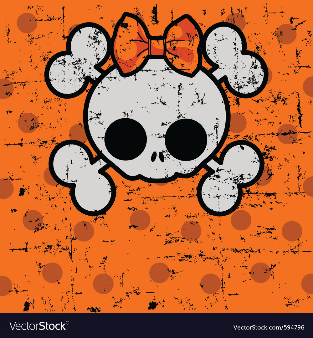 Cute halloween skull vector | Price: 1 Credit (USD $1)