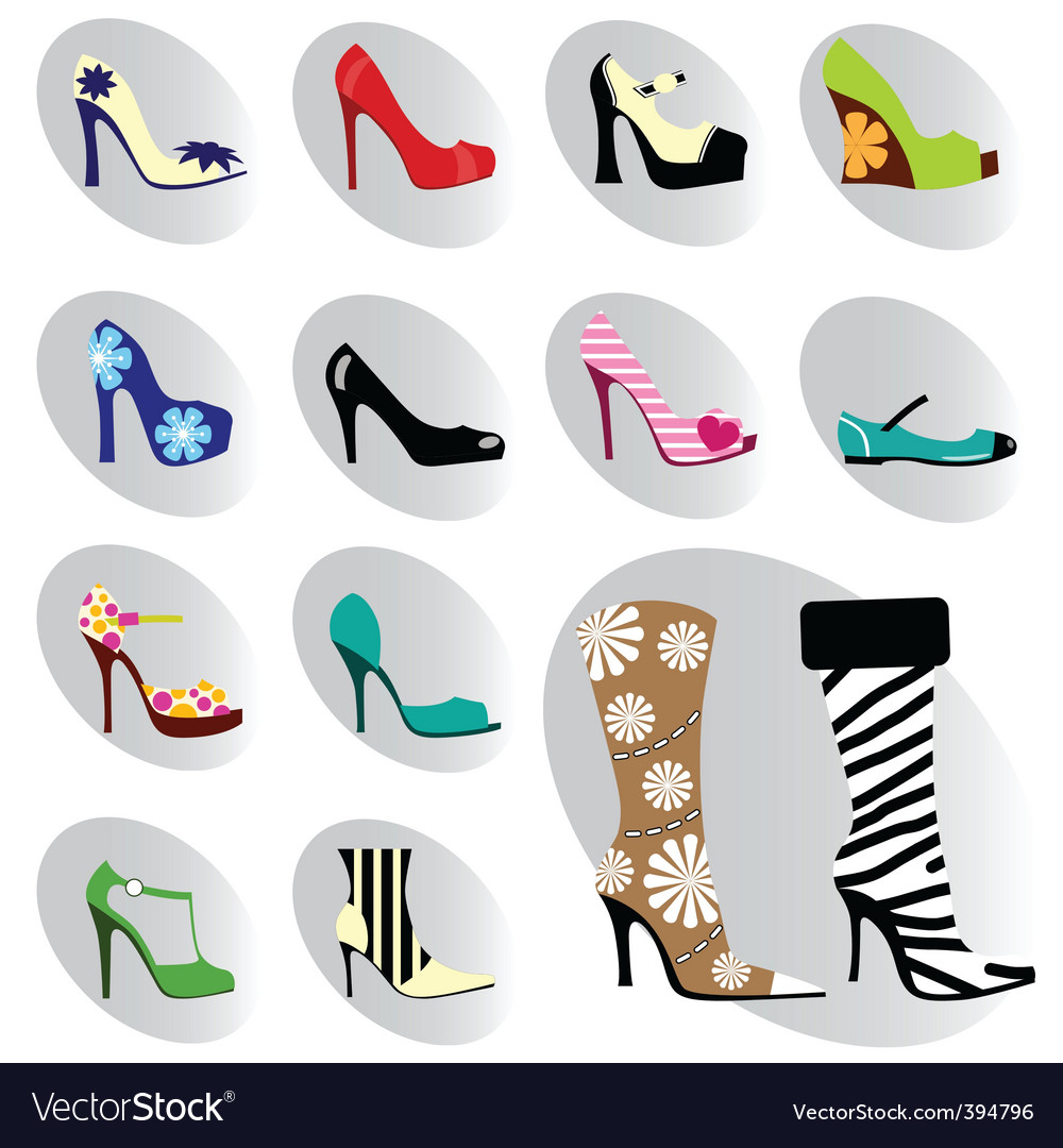 Fashion woman shoes vector | Price: 1 Credit (USD $1)