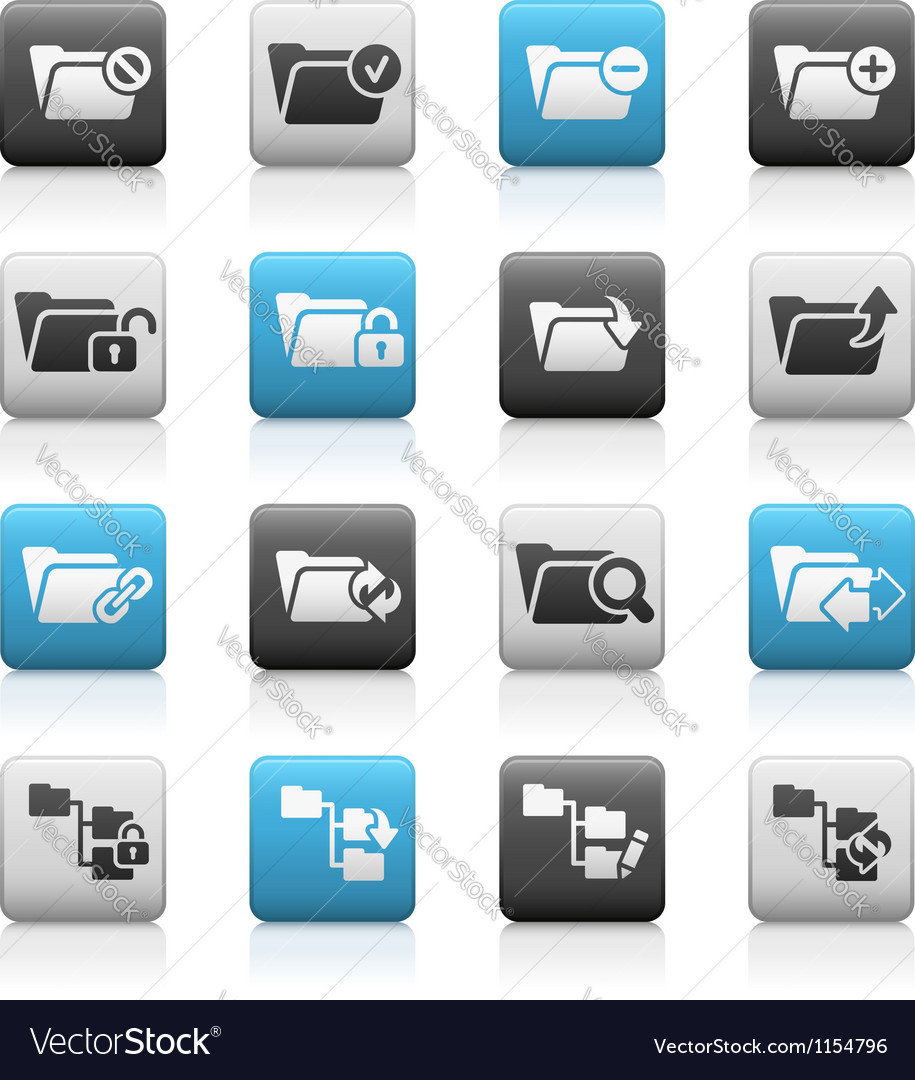 Folder icons 1 matte series vector | Price: 1 Credit (USD $1)