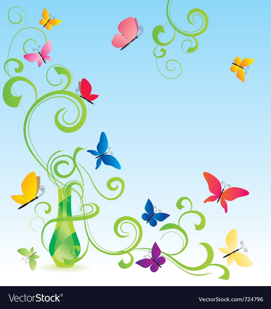 Spring fragrance bottle vector | Price: 1 Credit (USD $1)