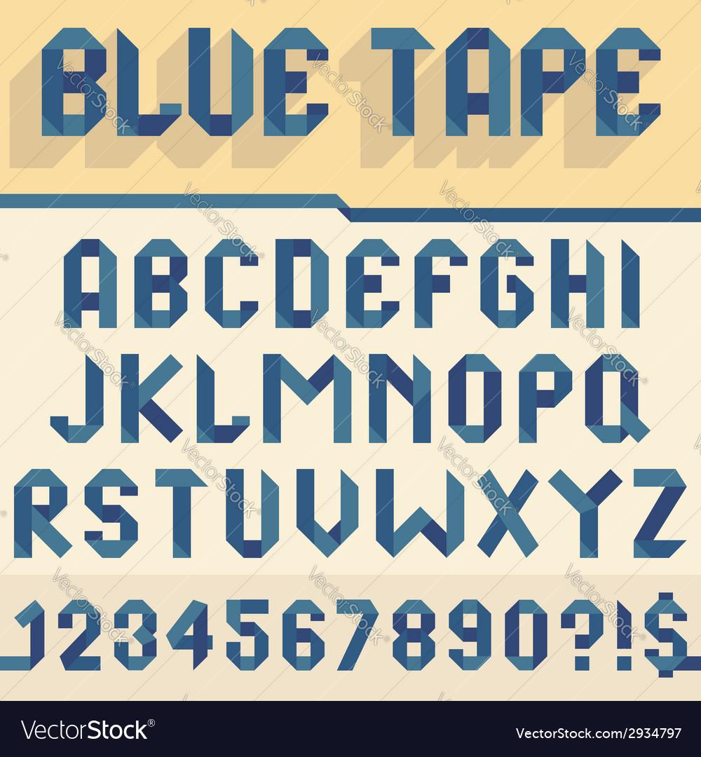 Blue tape alphabet vector | Price: 1 Credit (USD $1)