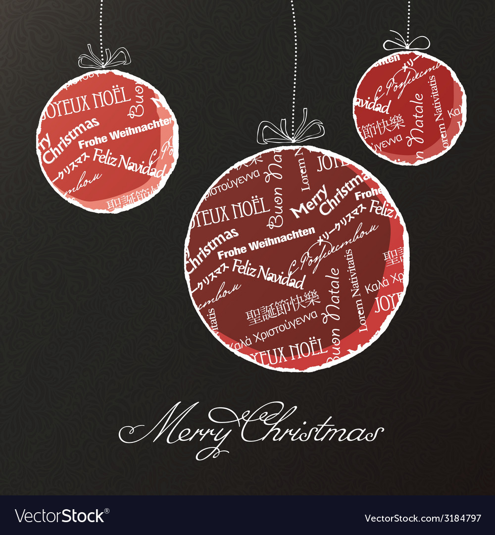 Christmas balls background vector | Price: 1 Credit (USD $1)