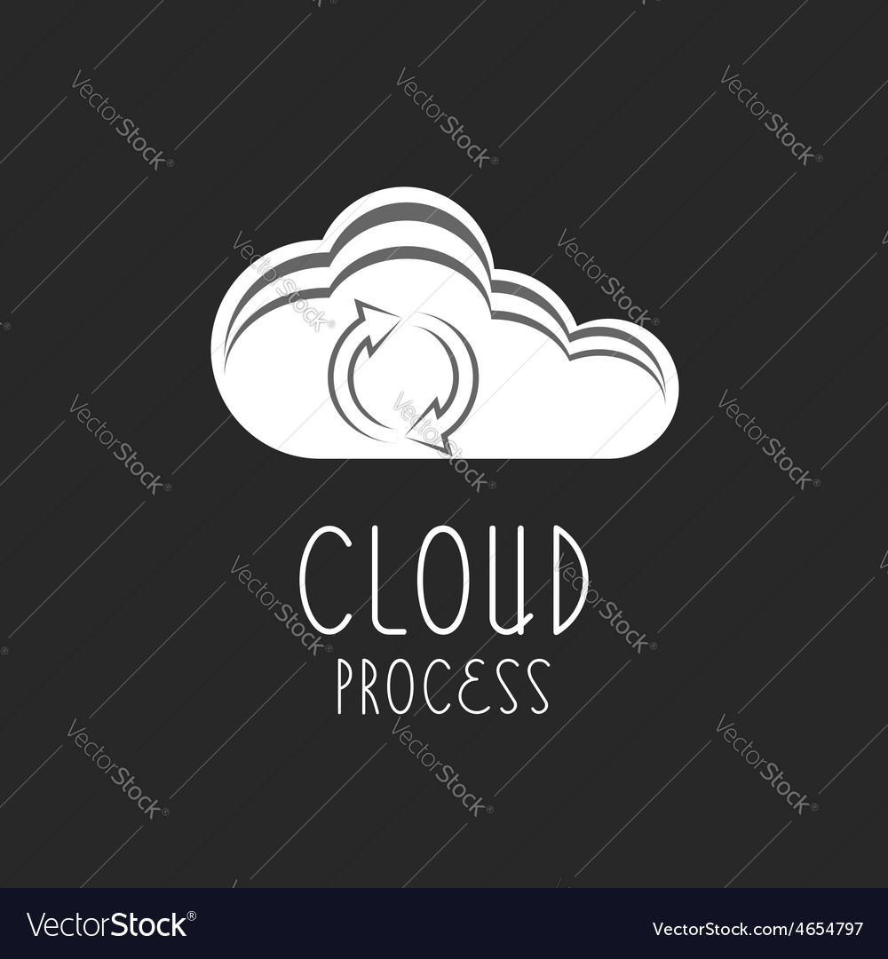 Cloud icon arrows sign the loading process vector | Price: 1 Credit (USD $1)
