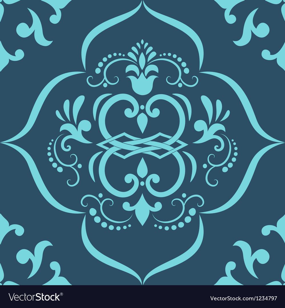 Damask elegant floral pattern vector | Price: 1 Credit (USD $1)