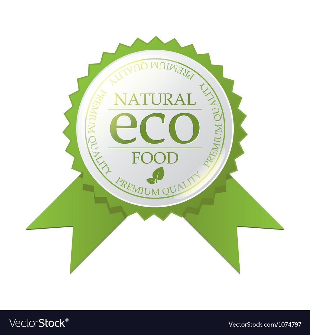Eco badge vector | Price: 1 Credit (USD $1)