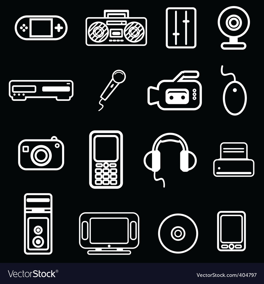 Electronic item icon vector | Price: 1 Credit (USD $1)