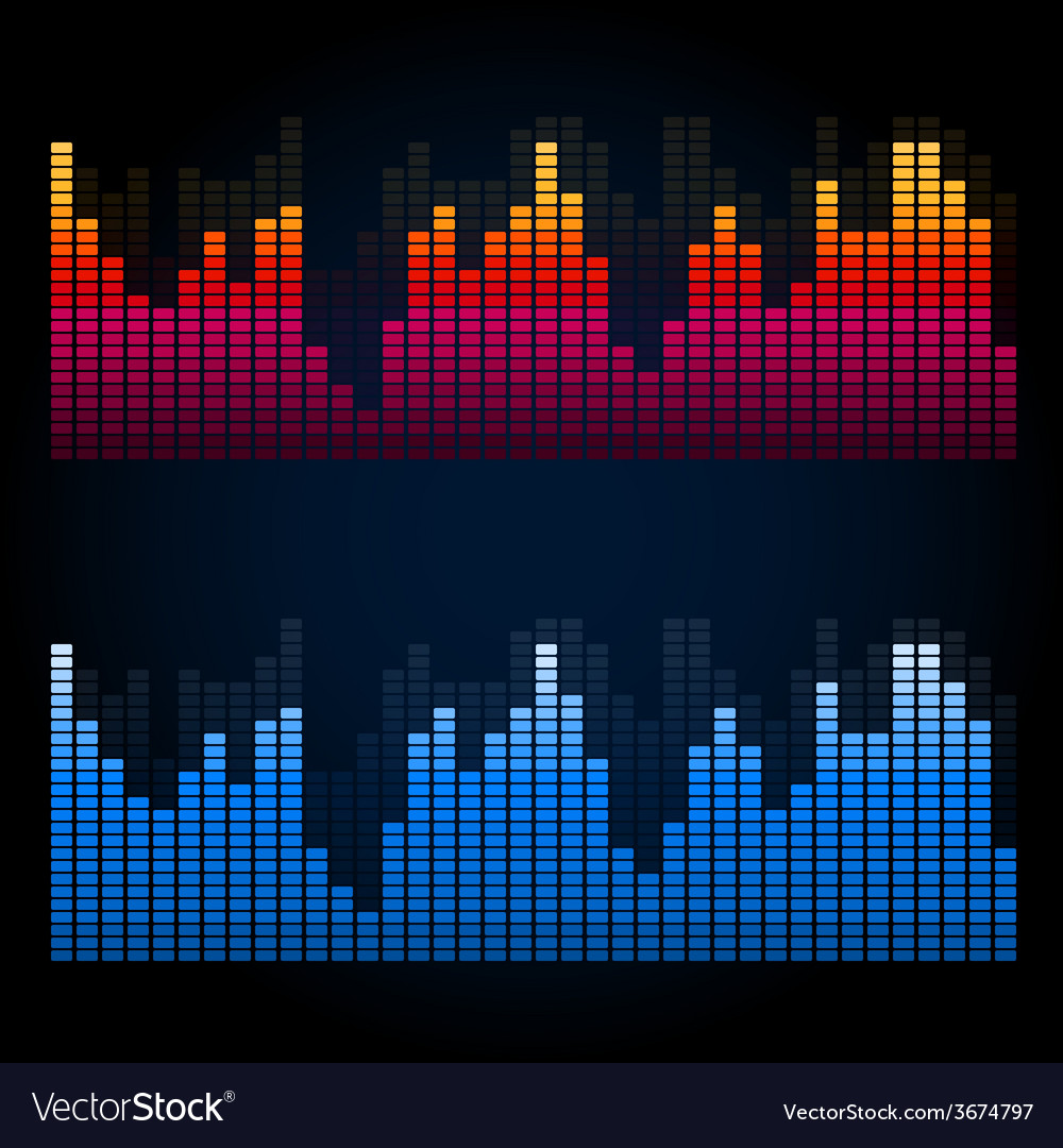 Equalizer on abstract technology background vector | Price: 1 Credit (USD $1)