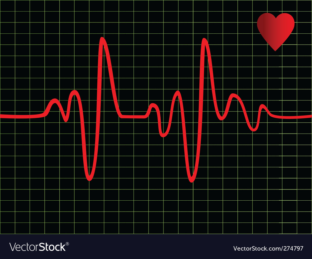 Heart beat vector | Price: 1 Credit (USD $1)