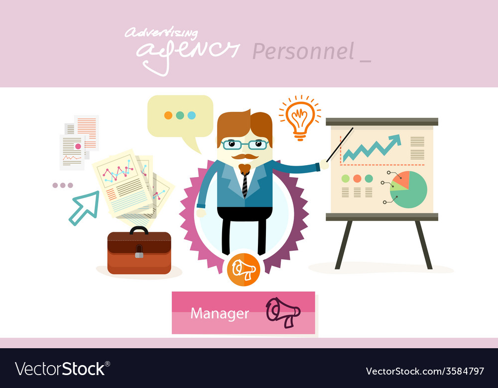 Manager profession workplace office desk vector   Price: 1 Credit (USD $1)