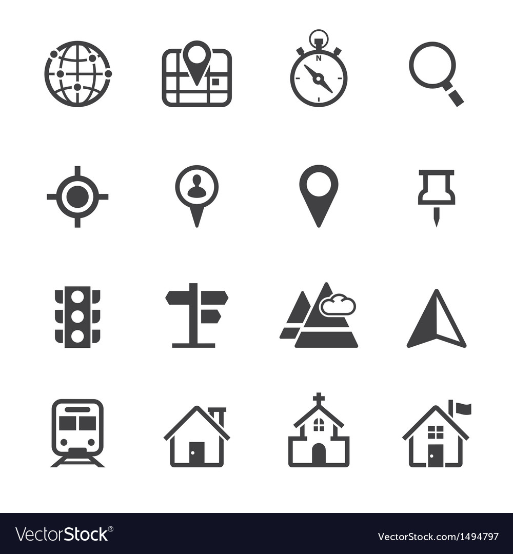 Map icons and location icons vector | Price: 1 Credit (USD $1)