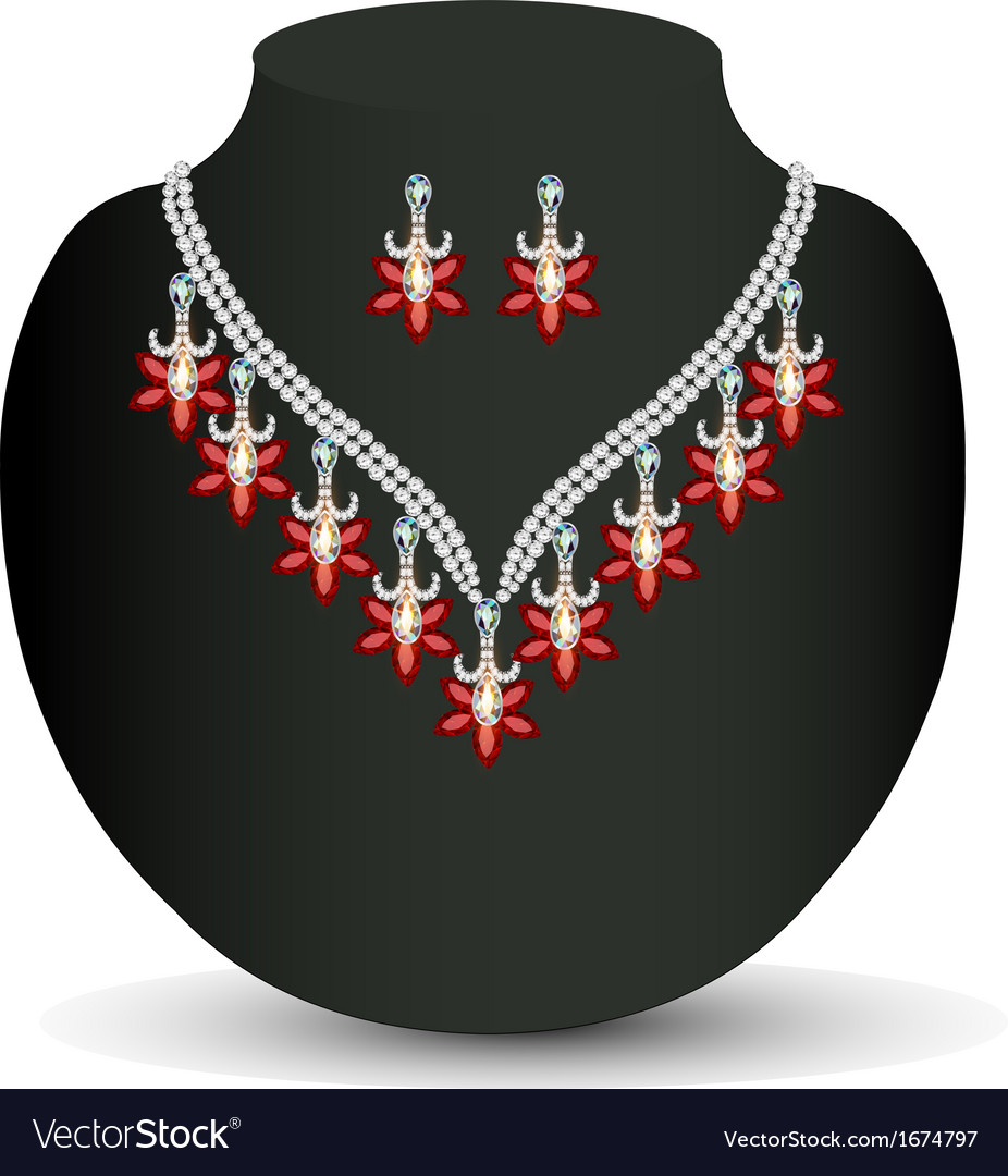 Necklace with her wedding vector | Price: 1 Credit (USD $1)