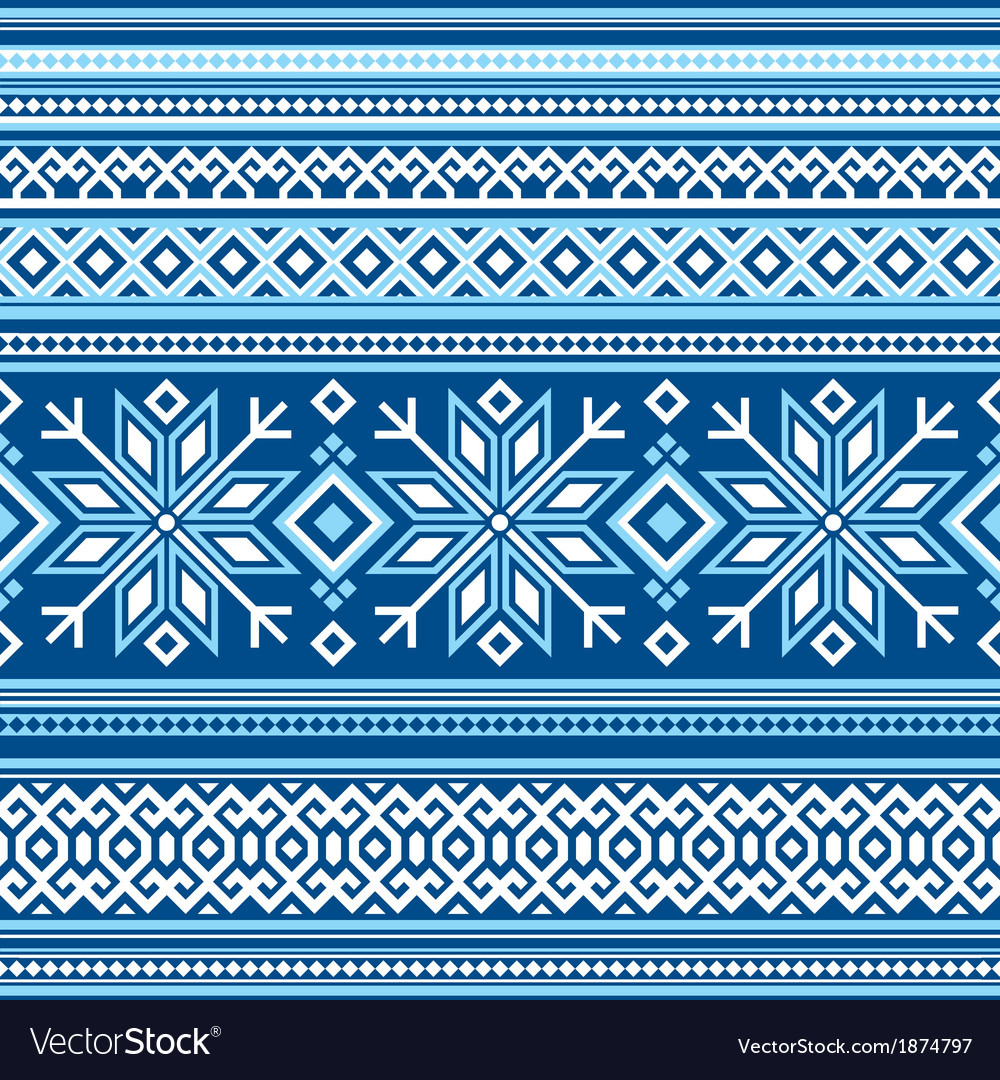 Scandinavian pattern seamless vector | Price: 1 Credit (USD $1)