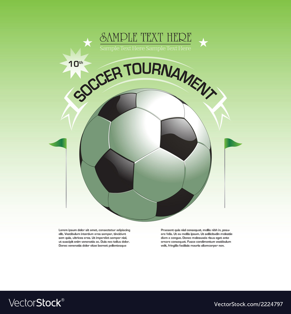 Soccer tournament invitation poster vector | Price: 1 Credit (USD $1)