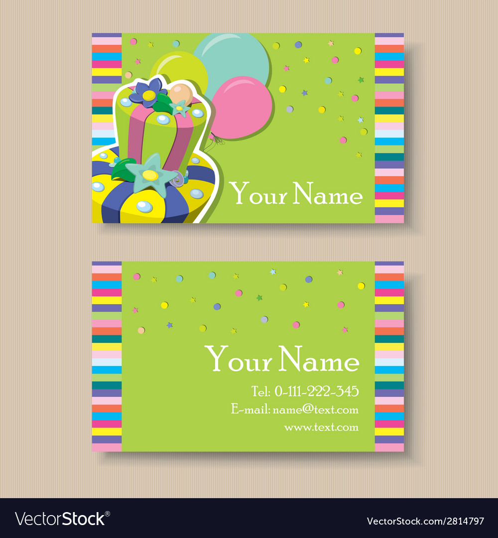 Visit card vector | Price: 1 Credit (USD $1)