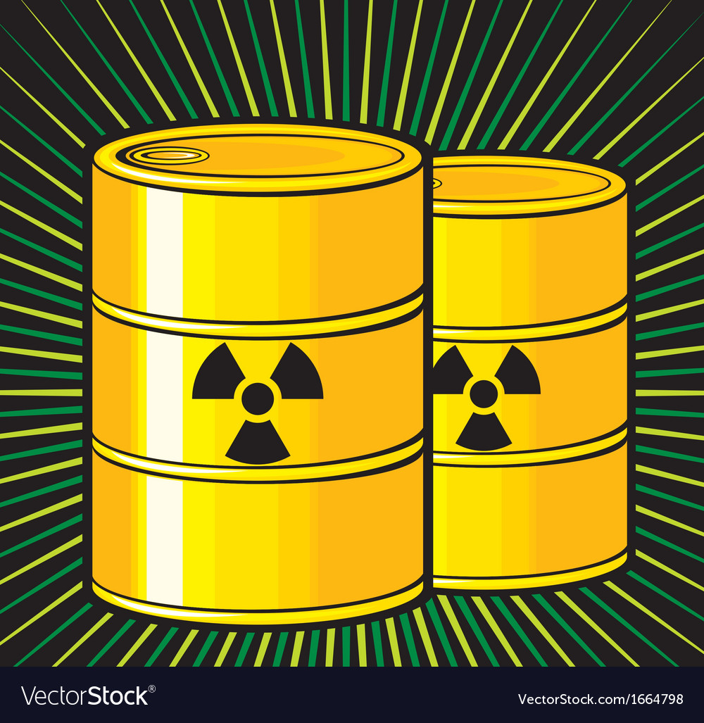 Barrels with nuclear waste vector | Price: 1 Credit (USD $1)