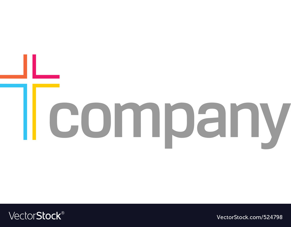 Colour cross logo for church vector | Price: 1 Credit (USD $1)