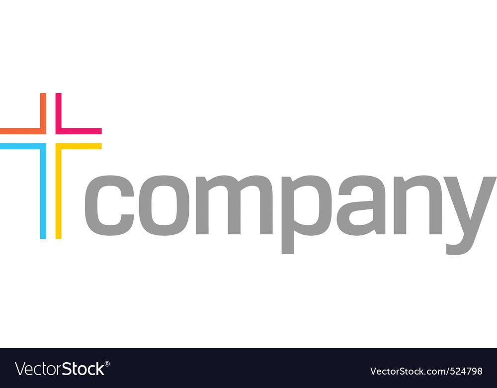 Colour cross logo for church vector   Price: 1 Credit (USD $1)