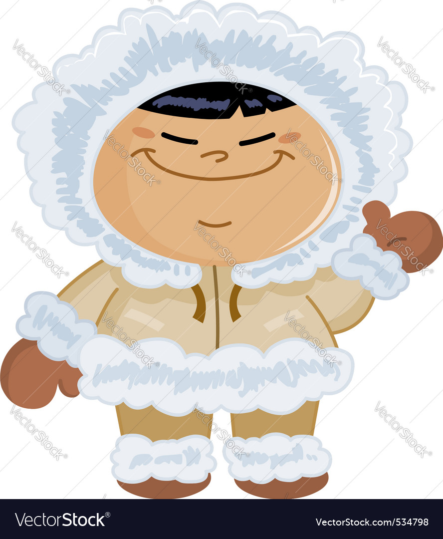 Eskimo kid vector | Price: 1 Credit (USD $1)