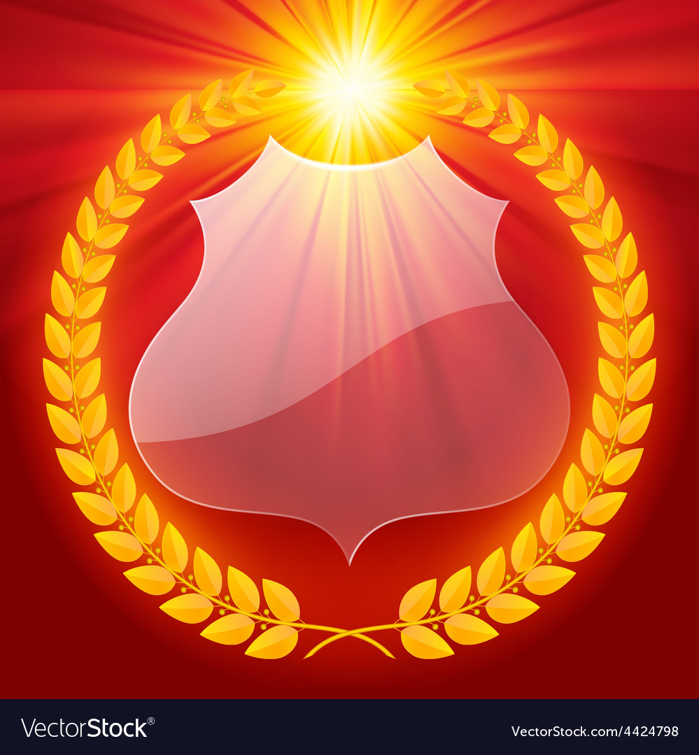Luminous laurel wreath vector | Price: 1 Credit (USD $1)