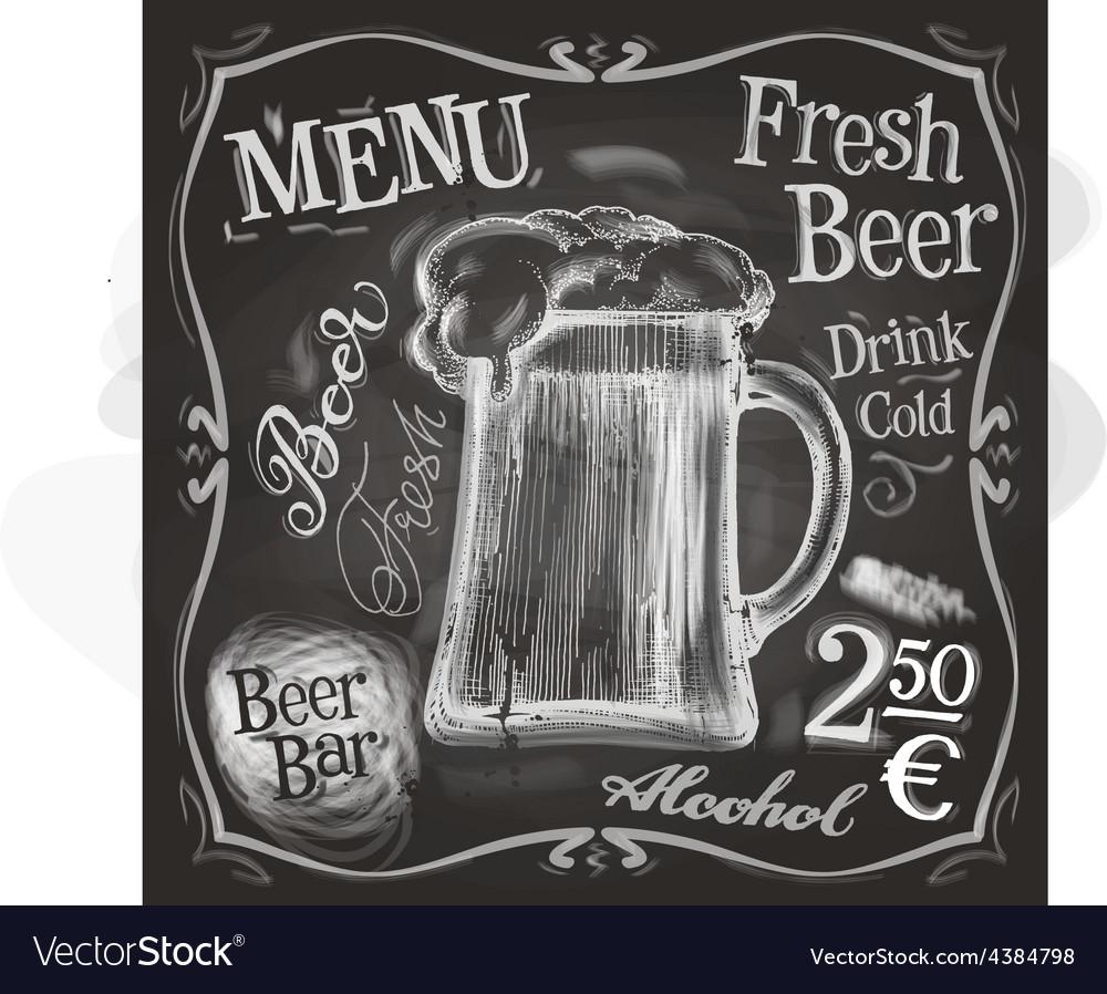 Pub logo design template beer mug or menu vector | Price: 3 Credit (USD $3)