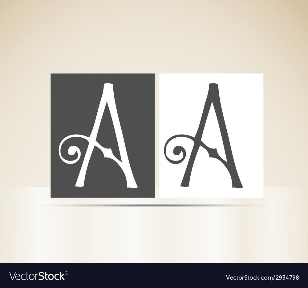 Retro alphabet letter a art deco vintage design vector | Price: 1 Credit (USD $1)