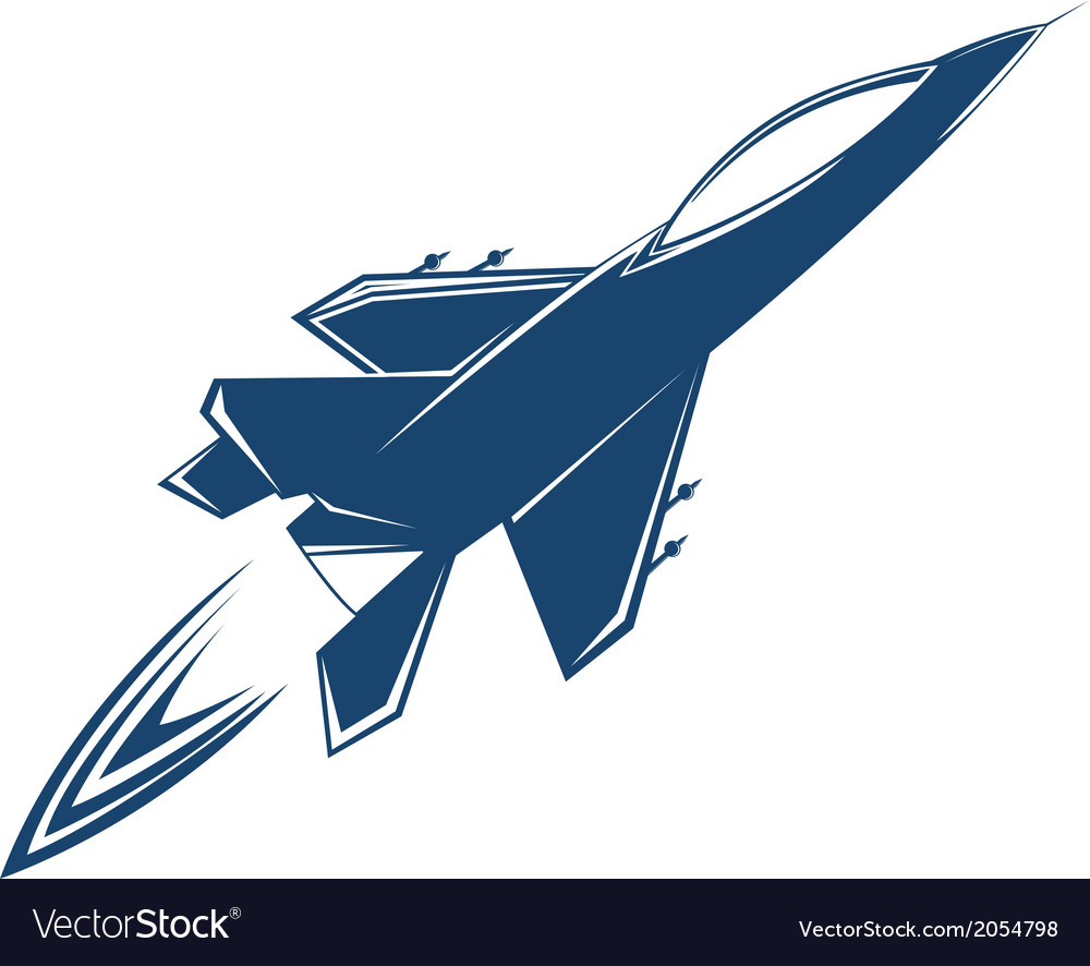 Stylized air fighter vector | Price: 1 Credit (USD $1)