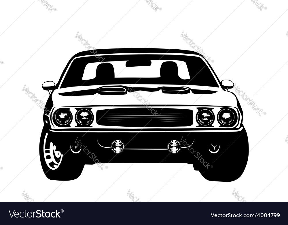 American muscle car legend silhouette vector | Price: 1 Credit (USD $1)