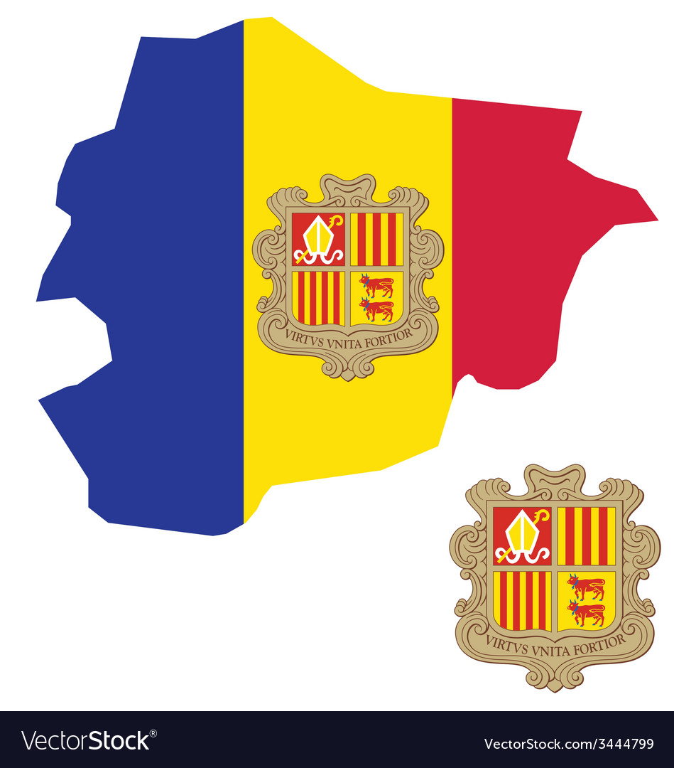 Andorra flag vector | Price: 1 Credit (USD $1)
