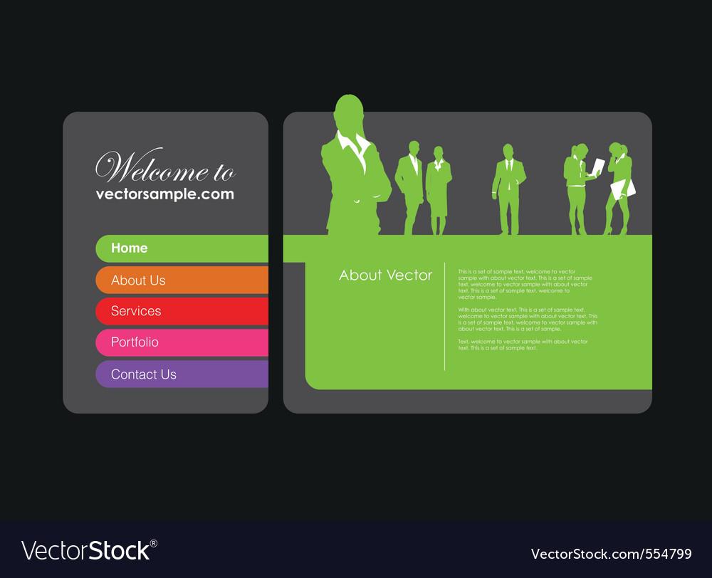 Business website vector   Price: 1 Credit (USD $1)