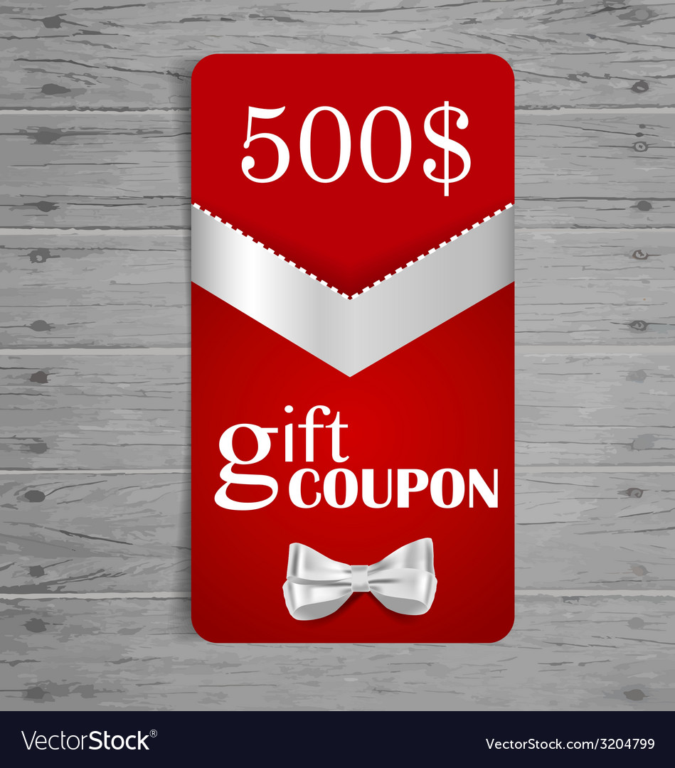 Gift coupons with gift bows and ribbons vector | Price: 1 Credit (USD $1)