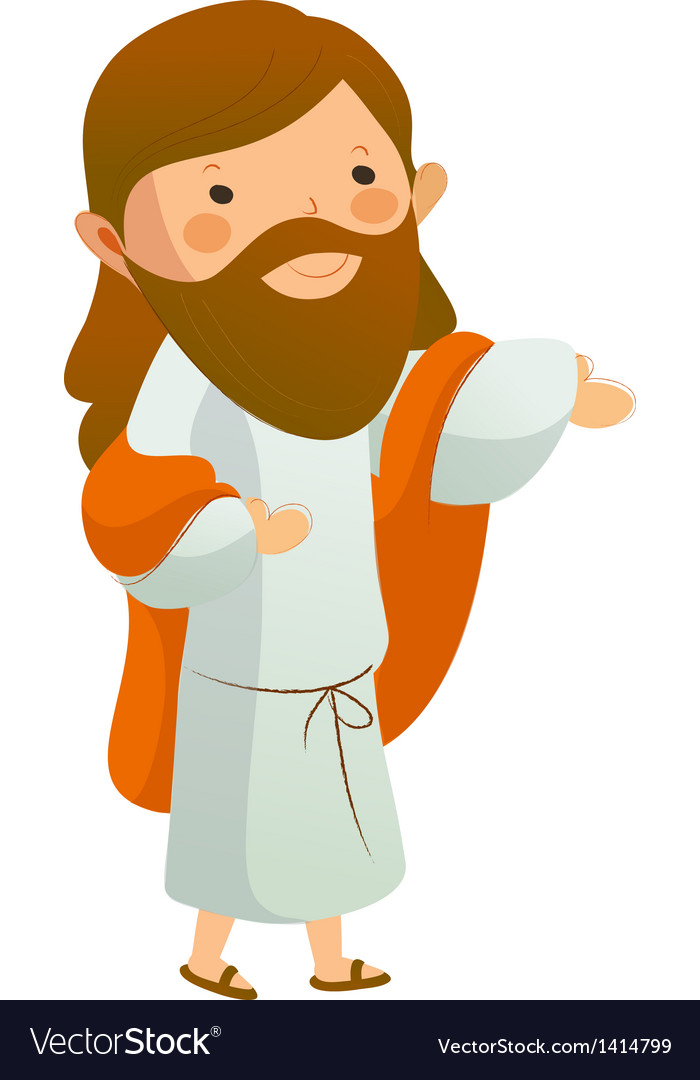 Jesus christ standing vector | Price: 1 Credit (USD $1)