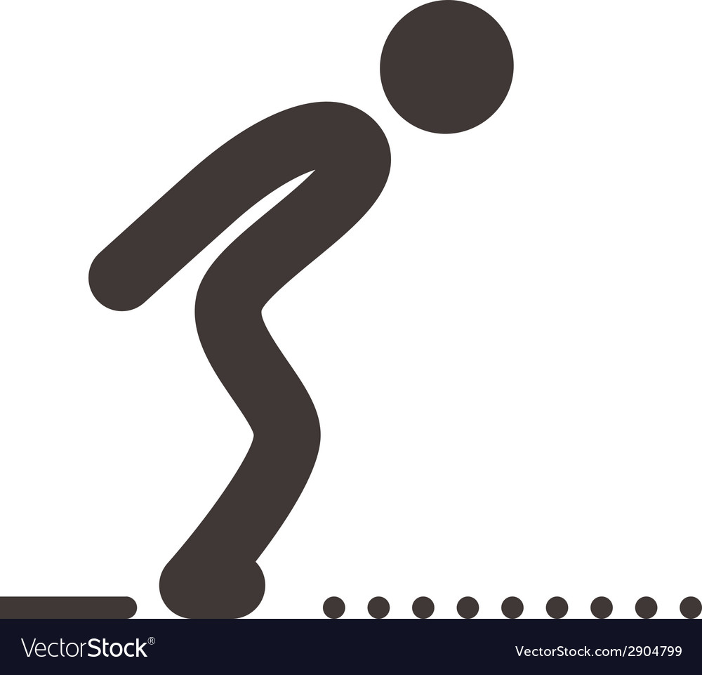 Long jump icon vector | Price: 1 Credit (USD $1)