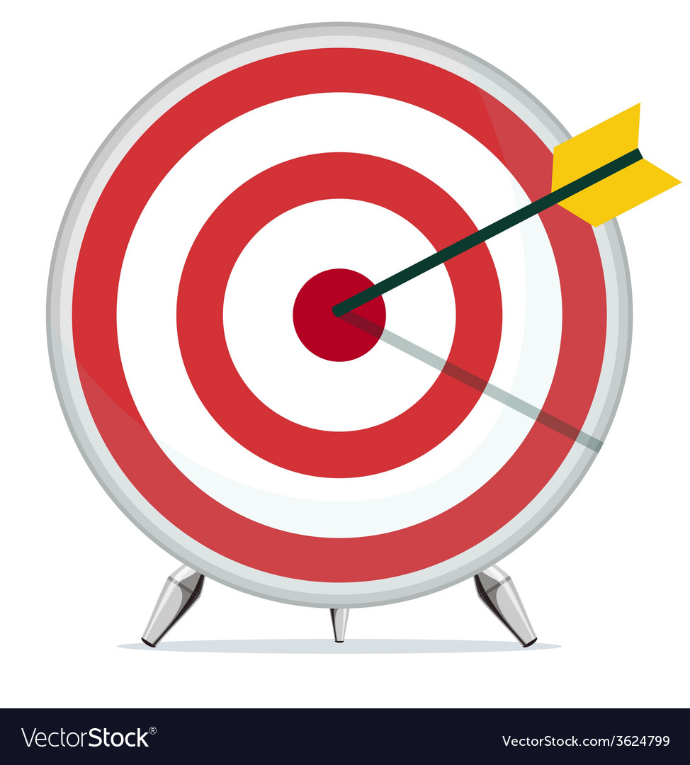 Target with an arrow in the center vector | Price: 1 Credit (USD $1)