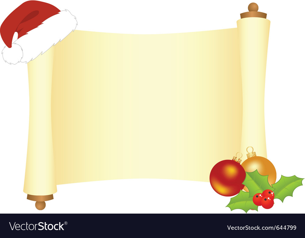 Xmas scroll vector | Price: 1 Credit (USD $1)