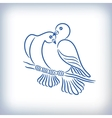 Symbol of two lovely pigeons vector