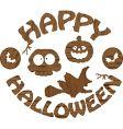 Halloween logo vector